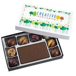 View a larger, more detailed picture of the Truffles & Chocolate Bar - 8 Pieces - Cheer