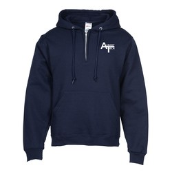 View a larger, more detailed picture of the Jerzees Nublend 1 4 Zip Hoodie - Screen