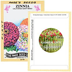 4imprint antique series seed packet zinnia 125769 gz imprinted with your logo