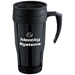 View a larger, more detailed picture of the Insulated Tumbler with Handle - 16 oz - Translucent