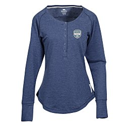 4imprint Com Roots73 Riverrock Henley Ladies 136265 L Imprinted With Your Logo