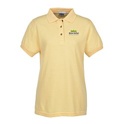 View a larger, more detailed picture of the Contour 60 40 Blend Pique Polo - Ladies