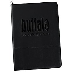 View a larger, more detailed picture of the Script Zippered Padfolio