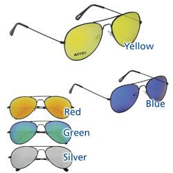 feec453e7aa0 Black Frame Color Mirrored Aviator Sunglasses (Item No. 152180-OL ...