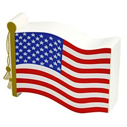 View a larger, more detailed picture of the Stress Reliever - Flag