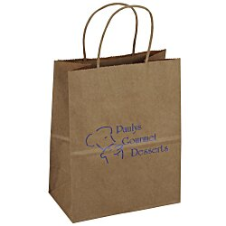View a larger, more detailed picture of the Kraft Paper Brown Eco Shopping Bag 9-3 4 x 7-3 4