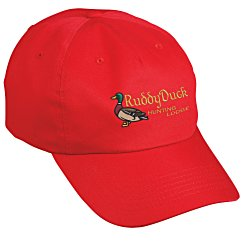 View a larger, more detailed picture of the Price-Buster Cotton Twill Cap - Embroidered