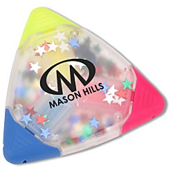 View a larger, more detailed picture of the TriMark Confetti Highlighter - Star