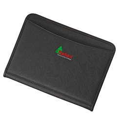 View a larger, more detailed picture of the Zippered Vinyl Portfolio - Embroidered