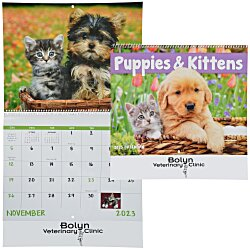 View a larger, more detailed picture of the Puppies & Kittens Calendar - Spiral