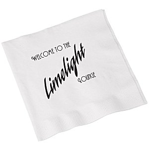 Beverage Napkin - 3-ply - White