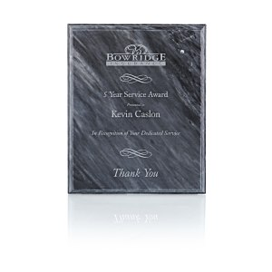 "Black Marble Plaque - 10"" Main Image"