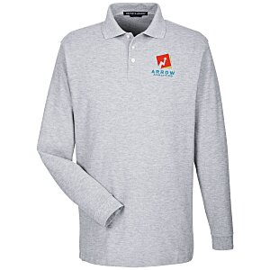Devon & Jones Long Sleeve Pique Polo Main Image