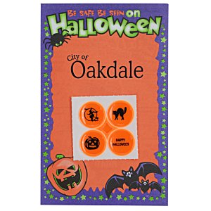 Halloween Safety Card with Quad-Dots Main Image