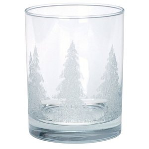 On-the-Rocks Glass with Iced Tree Design - 13-1/2 oz. Main Image