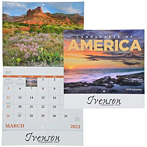 Landscapes of America Calendar (English) - Stapled Main Image