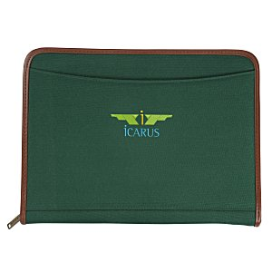 Zippered Polyester Portfolio - Embroidered