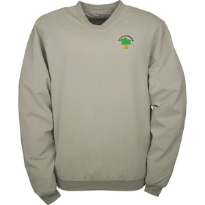 Satin Twill Lined Microfiber Windshirt Main Image