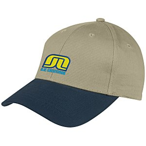 Curved Visor Brushed Twill Cap - Embroidered Main Image