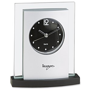 Desktop Analog Clock - Black Base Main Image