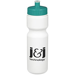 Sport Bottle with Push Pull Lid - 28 oz. - White Main Image