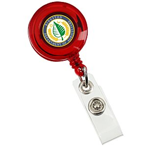 Retractable Badge Holder - Alligator Clip - Translucent Main Image