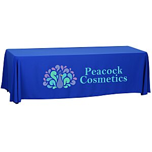 Open-Back Polyester Table Throw – 8' Main Image