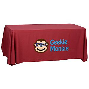Economy Open-Back Polyester Table Throw - 6'