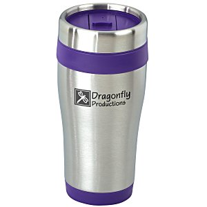 Steel Tumbler with Color Trim - 16 oz. Main Image