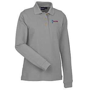 Superblend Long Sleeve Pique Polo - Ladies' Main Image