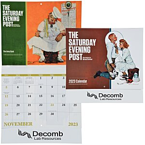 Saturday Evening Post Norman Rockwell Calendar - Stapled Main Image