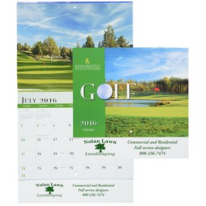 Golf Landscapes Calendar - Stapled Main Image