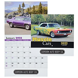Muscle Cars Calendar - Stapled Main Image