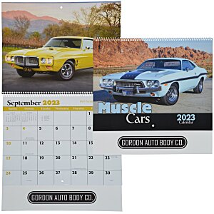 Muscle Cars Calendar - Spiral Main Image