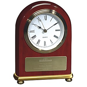 Rosewood & Brass Arch Clock Main Image