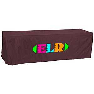 Open-Back Fitted Nylon Table Cover - 8' Main Image