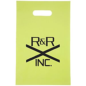 "Colored Frosted Die-Cut Convention Bag – 14"" x 9-1/2"" Main Image"