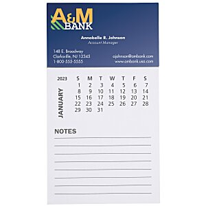 Bic Magnet with Calendar and Lined Notes Main Image