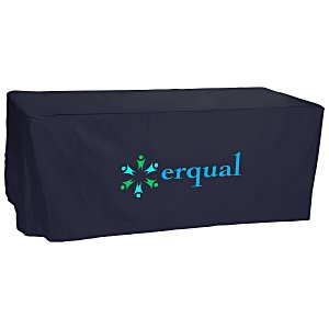Open-Back Fitted Nylon Table Cover - 6' Main Image