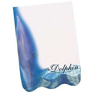 Bic Beveled Sticky Note Pad - Straight Wave Shape Main Image
