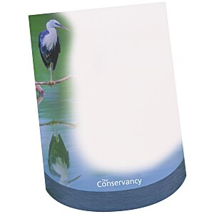 Bic Beveled Sticky Note Pad - Curve Shape Main Image