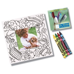 Picture Me Coloring Magnet Frame - Dentist Main Image