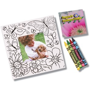 Picture Me Coloring Magnet Frame - Flowers Main Image