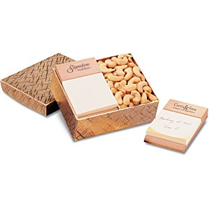 Beech Post-it® Note Holder with Cashews