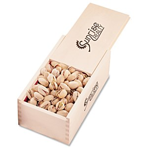 Wooden Box with Pistachios Main Image