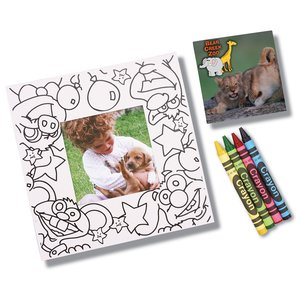 Picture Me Coloring Magnet Frame - Animals Main Image