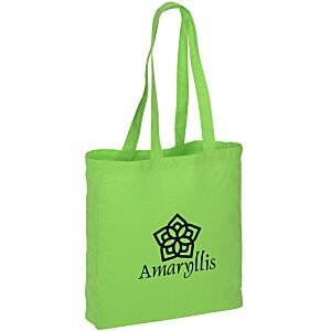 Gusseted Cotton Sheeting Tote - Color Main Image