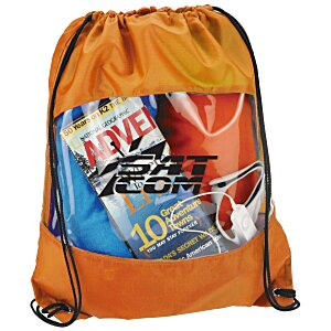 Clear-View Drawstring Bag Main Image