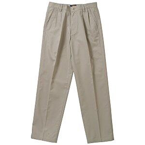 Teflon Treated Pleated Twill Pants - Men's Main Image