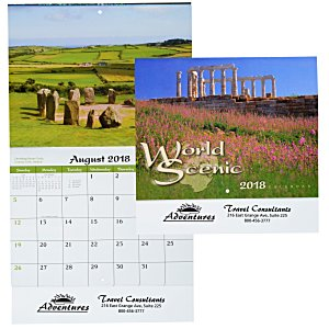World Scenic Calendar - Stapled Main Image